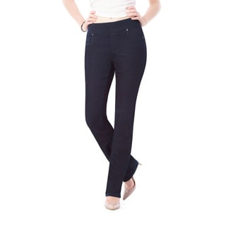 Bluberry Women's Azure Midnight Blue Denim Straight-leg Jeans