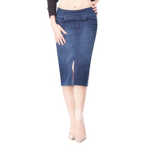Bluberry Women's Nicole Medium-wash Blue Denim Skirt