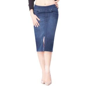 Bluberry Women's Nicole Medium-wash Blue Denim Skirt