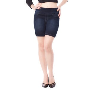 Bluberry Women's Jen Blue Denim Rinse-wash Shorts