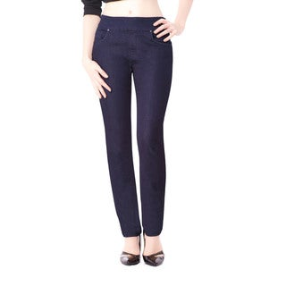 Bluberry Women's Hazel Indigo Denim Slim-leg Jeans