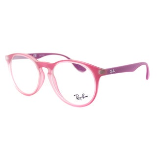 Ray-Ban RY 1554 3671 Rubber Violet Plastic 48-millimeter Round Eyeglasses