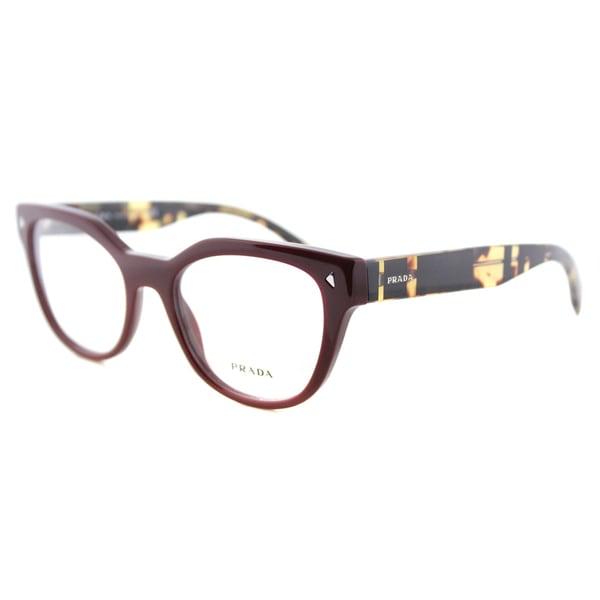 Prada Eyeglass Frames Cateye : Prada PR 21SV USH1O1 Bordeaux Plastic 51-millimeter Cat ...