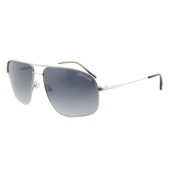 bfd5a1a10e01 Tom Ford TF 467 17W Justin Navigator Palladium Grey Metal Aviator Grey  Gradient Lens Sunglasses