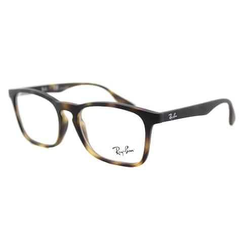 Ray-Ban Rubber Havana Plastic Square Eyeglasses