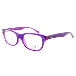 Ray-Ban Violet On Fluorescent Fuxia Plastic Rectangle Eyeglasses