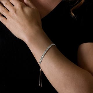 De Couer S925 Sterling Silver 1/8ct TDW Diamond Adjustable Slider Bracelet|https://ak1.ostkcdn.com/images/products/12376142/P19200117.jpg?impolicy=medium