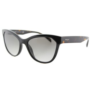 Prada PR 21SS 1AB0A7 Black Plastic Cat-Eye Grey Gradient Lens Sunglasses