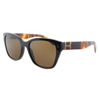 Prada PR 09SS TFM9L1 Blue Plastic Square Brown Lens Sunglasses