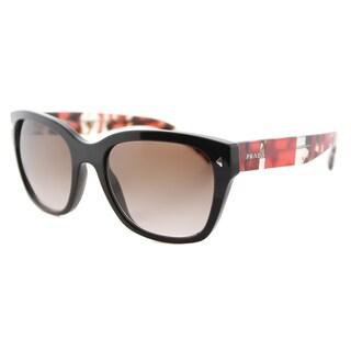 Prada PR 09SS DHO3D0 Brown Plastic Square Brown Gradient Lens Sunglasses