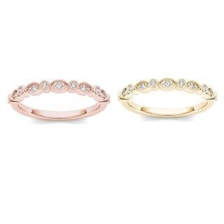 Link to De Couer  IGI Certified 10k Gold 1/20ct TDW Wedding Band Similar Items in Wedding Rings