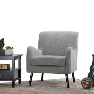 WYNDENHALL Stanley Mid Century Grey Tweed Arm Chair