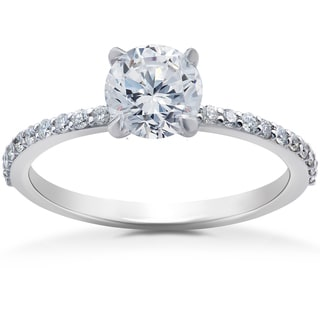 14k White Gold 3/4ct Lab Grown Eco-Friendly Diamond Engagement Ring (F-G, SI1-SI2)