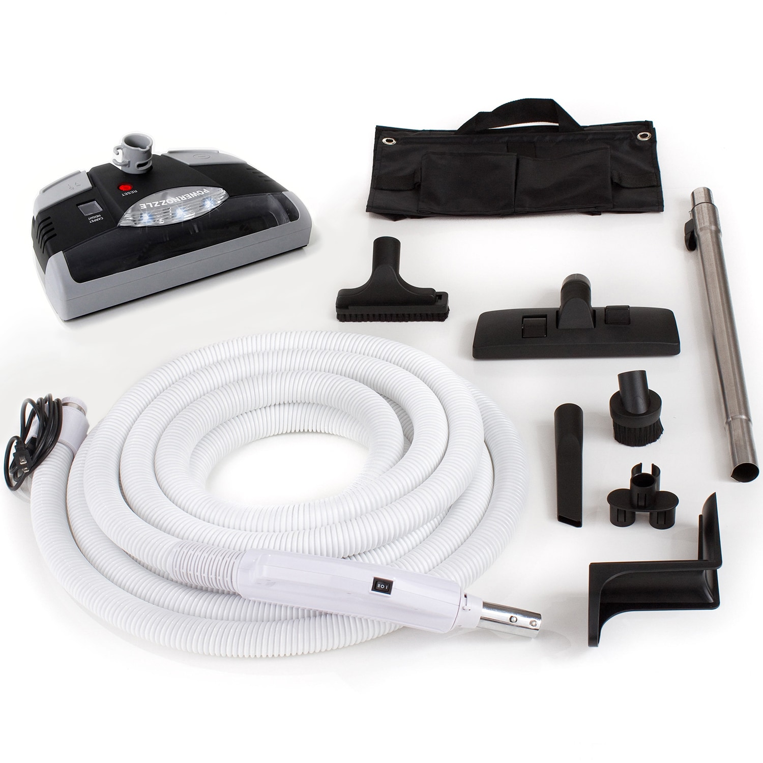 GV 35-foot Central Vacuum Kit with Power Head and Tools (...