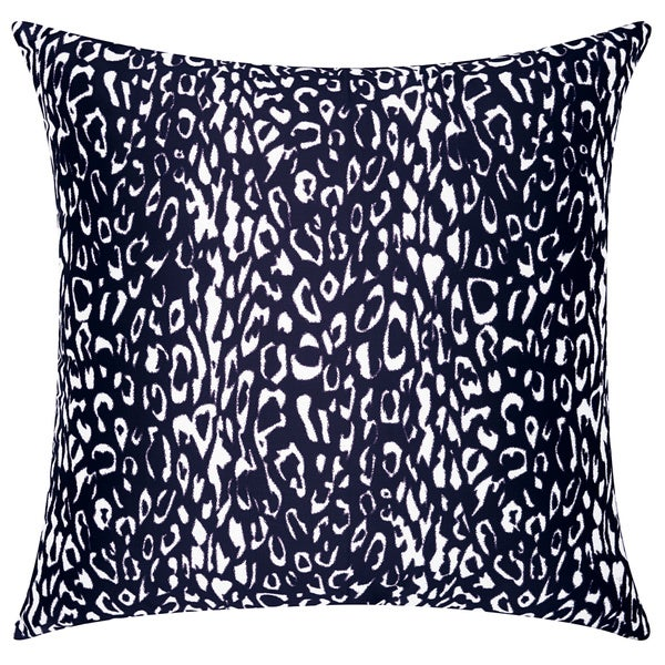 Mina Victory Indoor/Outdoor Leopard Black Throw Pillow by Nourison (20-Inch X 20-Inch)