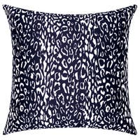 Mina Victory Indoor/Outdoor Leopard Black Throw Pillow (20-inch x 20-inch) by Nourison