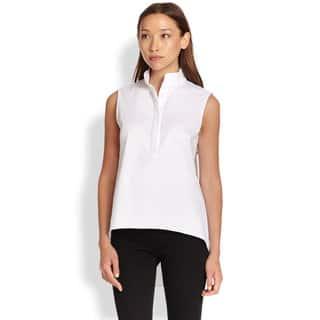 Elie Tahari Tiffany White VIscose Sleeveless Blouse|https://ak1.ostkcdn.com/images/products/12376373/P19200320.jpg?impolicy=medium