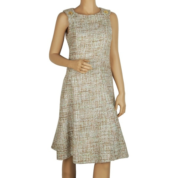 88ca056b8dd3 Shop Badgley Mischka Mint Tweed Sleeveless Dress - Free Shipping Today -  Overstock - 12376393
