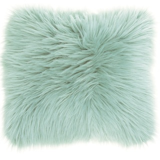 Mina Victory Faux Fur Seafoam Throw Pillow (22-inch x 22-inch) by Nourison