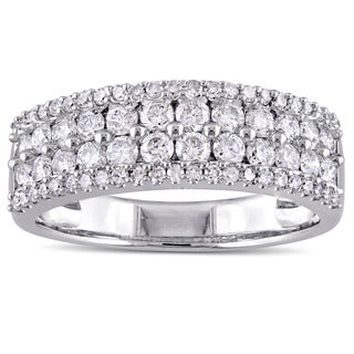 Miadora Signature Collection 14k White Gold 1ct TDW Diamond Anniversary Ring
