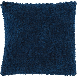 Mina Victory Shag Finger Yarn Indigo Throw Pillow (20-inch x 20-inch) by Nourison