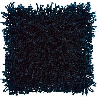 Mina Victory Shag Skinny Fugga Navy Throw Pillow (20-inch x 20-inch) by Nourison