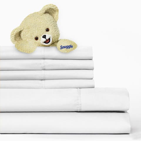 6-piece Solid Microfiber Sheet Set with Deep Pockets and Pillowcases by Snuggle