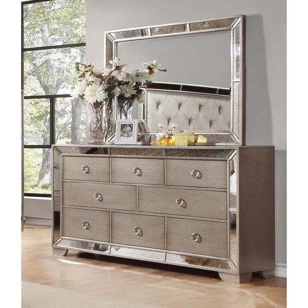 Etonnant Best Master Furniture Silver Bronze Dresser And Mirror