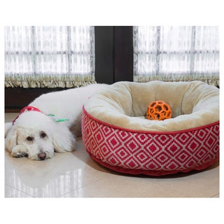 Kilim Donut Heated Pet Bed
