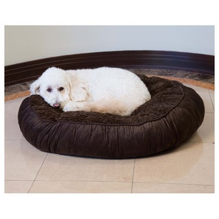 Faux Fur Tufted Round Pet Bed