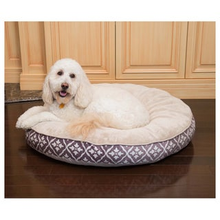 Diamond Round Heated Pet Bed