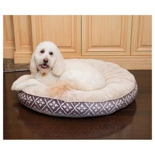 Diamond Round Heated Pet Bed