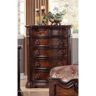 Best Master Furniture Walnut 5-Drawer Bedroom Chest