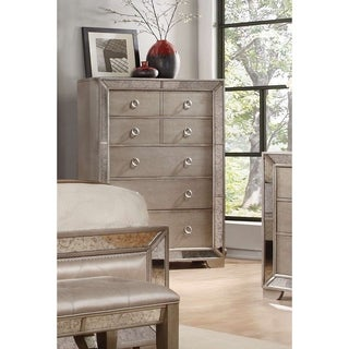 Best Master Furniture Silver Bronze 5-Drawer Chest