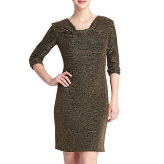 Tahari by ASL Zack Gold Sparkle Dress