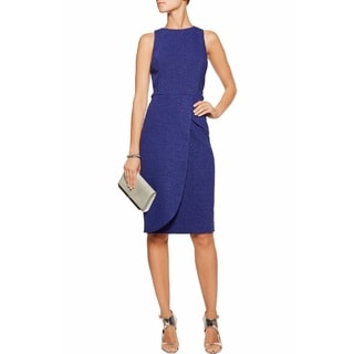 Badgley Mischka Women's Blue Tweed Sheath Dress