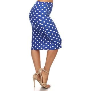 Women's Plus-size Polka Dot Pencil Skirt