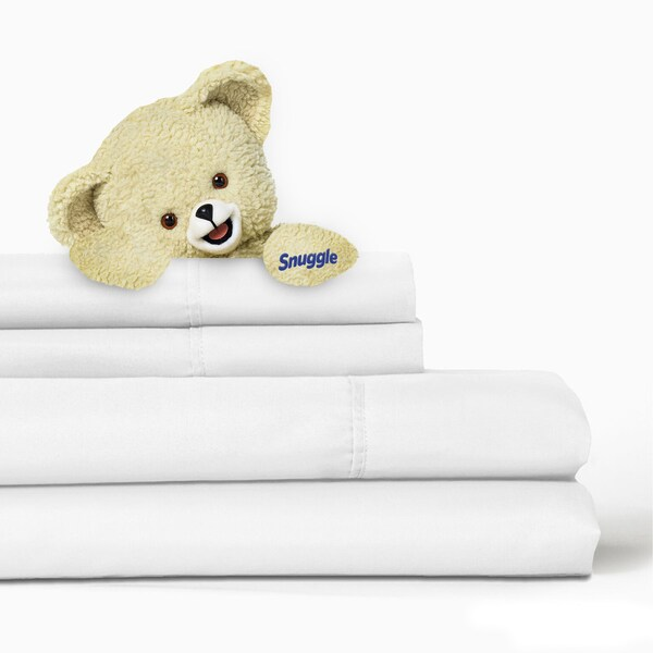 Solid 4-piece Microfiber Sheet Set with Deep Pockets by Snuggle