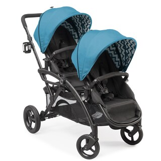 Contours Options Elite Laguna Blue Tandem Stroller