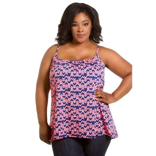 Sealed with a Kiss Women's Plus Size Printed Cami