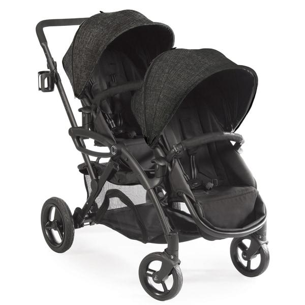 Contours Options Elite Black Carbon Aluminum Tandem Stroller