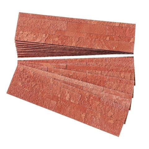 Aspect Autumn Sandstone Peel and Stick Stone Backsplash 15 sq. ft. Kit