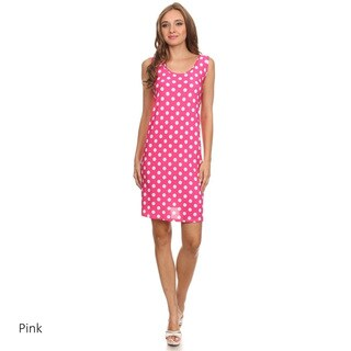 Polka Dot Polyester/Spandex A-line Sleeveless Dress