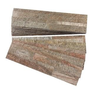 Link to Aspect Tarnished Quartz Peel and Stick Stone Backsplash 15 sq. ft. Kit Similar Items in Tile
