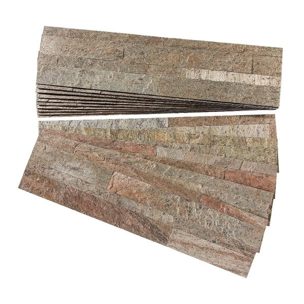 aspect tarnished quartz peel and stick stone backsplash 15