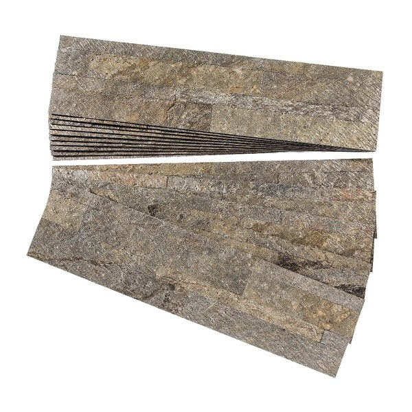 aspect mossy quartz peel and stick stone backsplash 15 sq ft kit