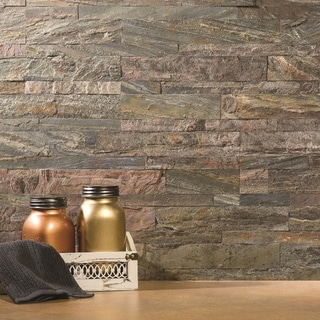 Aspect Weathered Quartz Peel and Stick Stone Backsplash 15 sq. ft. Kit