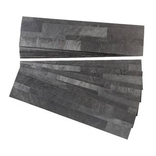 Aspect Charcoal Slate Peel and Stick Stone Backsplash 15 sq. ft. Kit|https://ak1.ostkcdn.com/images/products/12376680/P19200552.jpg?impolicy=medium