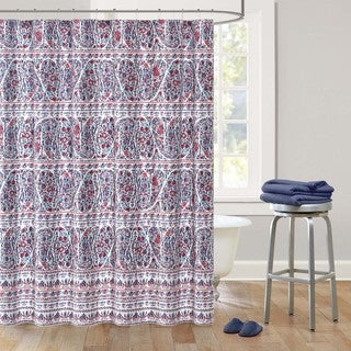 Echo Design Woodstock Sateen Printed Shower Curtain
