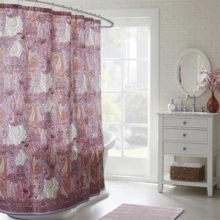 Echo Design Florentina Cotton Sateen Printed Shower Curtain
